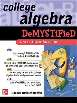 5 - McGraw Hill - College Algebra Demystified - 2004-index