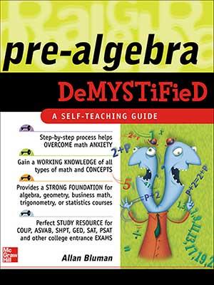 13 - McGraw-Hill - Pre-Algebra Demystified-index