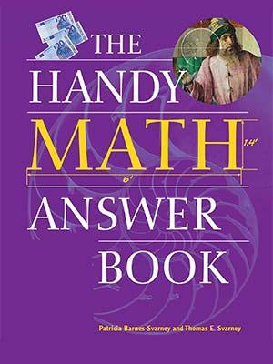 20 - The Handy Math Answer Book-index