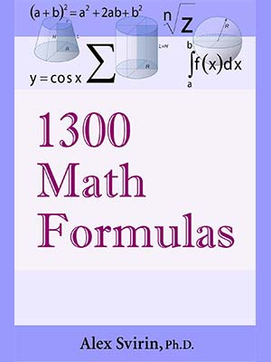 24 - 1300 Math Formulas-index